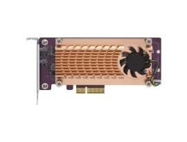 QNAP Systems QM2-2P-384 Dual M.2 2280/22110 PCIe-SSD-Erweiterungskarte (PCIe Gen3 x8)