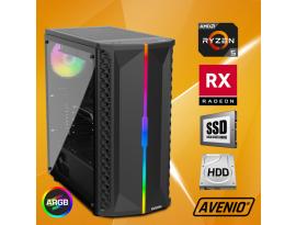 Stolno računalo Avenio OptiGamer AMD Ryzen 5 3400G 3.70GHz 16GB 480GB SSD + 1TB HDD FreeDOS AMD Radeon RX 5600XT 6GB GDDR6