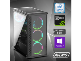 Stolno računalo Avenio ProGamer Intel Core i7 9700 3.00GHz 16GB 512GB NVMe SSD + 1TB HDD W10P nVidia GeForce GTX 1660 SUPER 6GB GDDR6