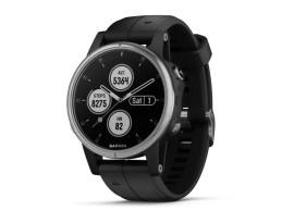Pametni multisport GPS sat Garmin Fenix 5S Plus srebrni (crni remen, manje kućište)