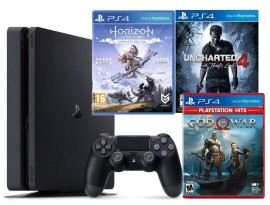 Igraća konzola PlayStation 4 1TB + Uncharted 4 + God of War + Horizon Zero Dawn GRATIS