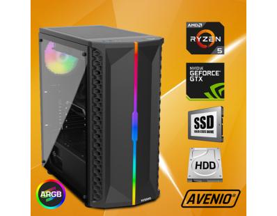 Stolno računalo Avenio OptiGamer AMD Ryzen 5 3600 3.60GHz 16GB 480GB SSD + 1TB HDD FreeDOS nVidia GeForce GTX 1660 SUPER 6GB GDDR6 122127