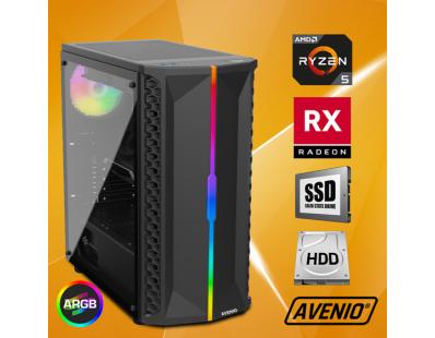 Stolno računalo Avenio OptiGamer AMD Ryzen 5 3600 3.60GHz 16GB 480GB SSD + 1TB HDD FreeDOS AMD Radeon RX 5600XT 6GB GDDR6 122132