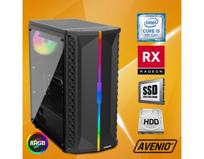 Stolno računalo Avenio OptiGamer Intel Core i5 9400F 2.90GHz 16GB 480GB SSD + 1TB HDD FreeDOS AMD Radeon RX 5600XT 6GB GDDR6 122129
