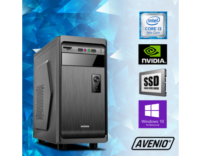 Stolno računalo Avenio ProOffice Intel Core i3 9100F 3.60GHz 8GB 120GB SSD + 500GB HDD DVDRW W10P nVidia GeForce GT710 123238