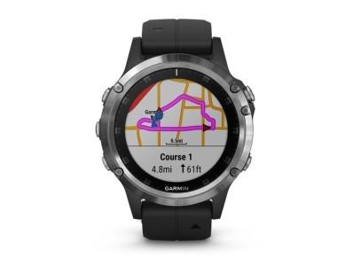 Pametni multisport GPS sat Garmin Fenix 5 Plus srebrni (crni remen) 112345
