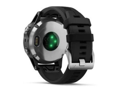 Pametni multisport GPS sat Garmin Fenix 5 Plus srebrni (crni remen) 112342