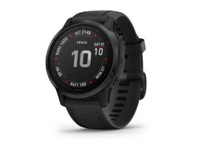 Pametni multisport GPS sat Garmin Fenix 6S PRO Black (crni remen, manje kućište) 112360