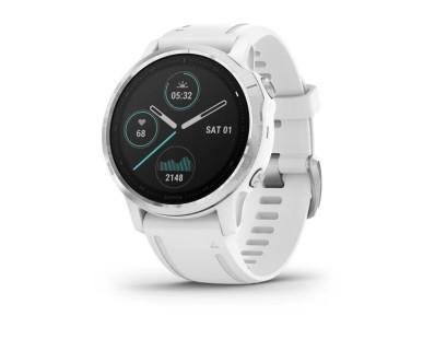 Pametni multisport GPS sat Garmin Fenix 6S Silver bijeli (bijeli remen, manje kućište) 112341