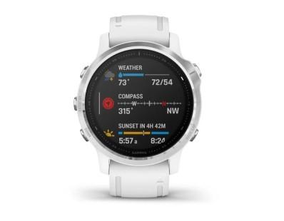 Pametni multisport GPS sat Garmin Fenix 6S Silver bijeli (bijeli remen, manje kućište) 112337