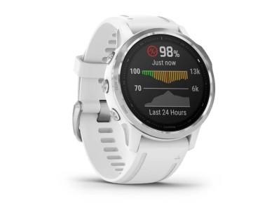Pametni multisport GPS sat Garmin Fenix 6S Silver bijeli (bijeli remen, manje kućište) 112340