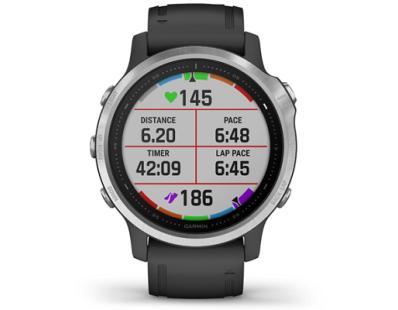 Pametni multisport GPS sat Garmin Fenix 6S Silver crni (crni remen, manje kućište) 112349