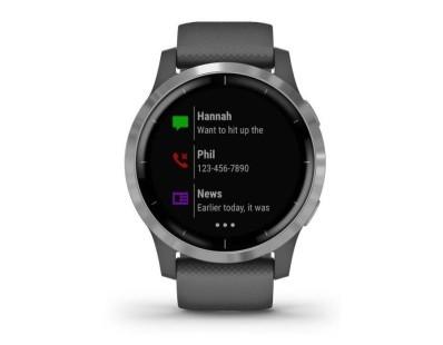 Pametni fitness GPS sat Garmin vivoactive 4 Slate (crni remen) 112500