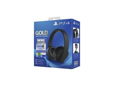 PS4 Wireless Gold Headset Black + Fortnite VCH (2019) 112026