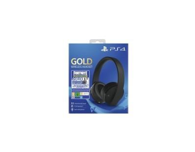 PS4 Wireless Gold Headset Black + Fortnite VCH (2019) 112025